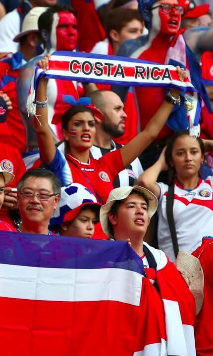 Costa Rica National Futbol Soccer Team Fans