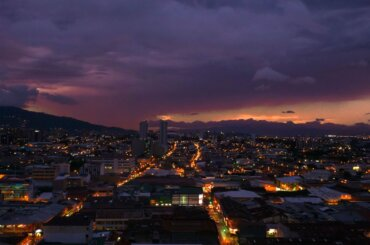 Sunset in San Jose, Costa Rica